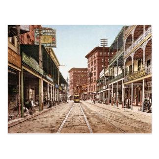 Calle New Orleans 1900 retro de St Charles Tarjeta Postal