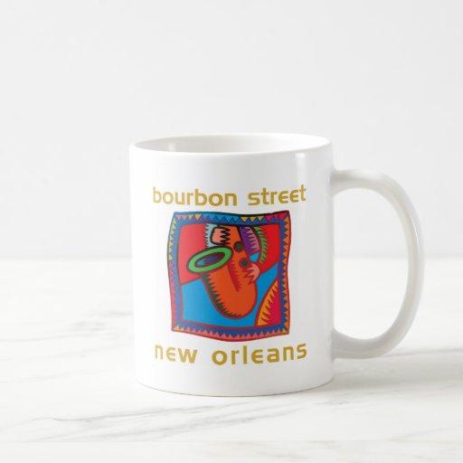 Calle New Orleans de Borbón Tazas De Café