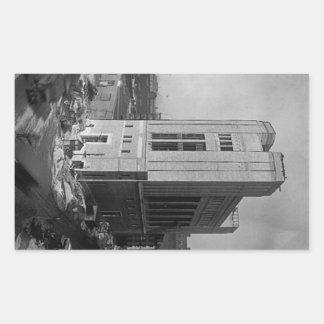 Calle New York City 1928 de Washington del eje del Etiqueta