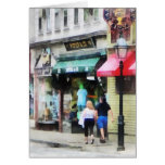 Calle Newport RI de Rhode Island - de Thames Tarjetón