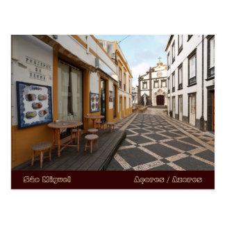 Calle peatonal postales