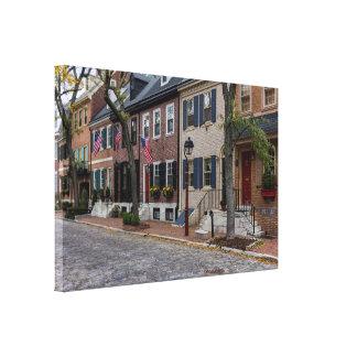 Calle Philadelphia de Delancy Impresión En Lienzo
