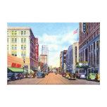Calle principal 1940 de Akron Ohio Impresión De Lienzo