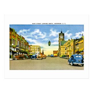 Calle principal, Anderson, Carolina del Sur Postal
