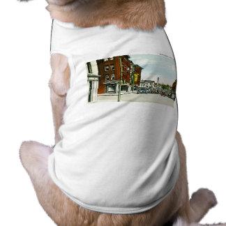 Calle principal, Athol, Massachusetts Playera Sin Mangas Para Perro