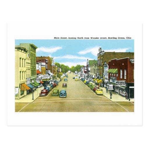 Calle principal, Bowling Green, Ohio Tarjeta Postal