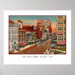Calle principal - búfalo, poster del vintage de NY