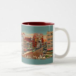 Calle principal - búfalo, taza de café del vintage