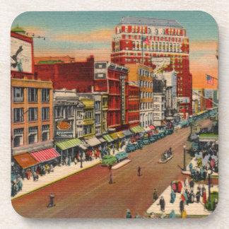 Calle principal - búfalo, vintage de NY Posavasos De Bebida