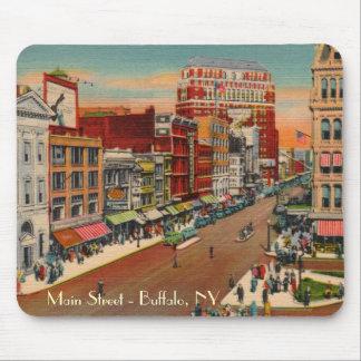 Calle principal - búfalo, vintage Mousepad de NY
