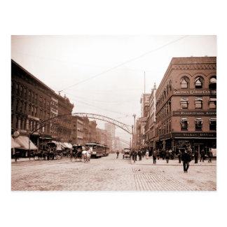 Calle principal Columbus OH de la foto antigua Postales