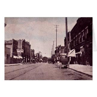 Calle principal de Fairmount Indiana Tarjeta De Felicitación