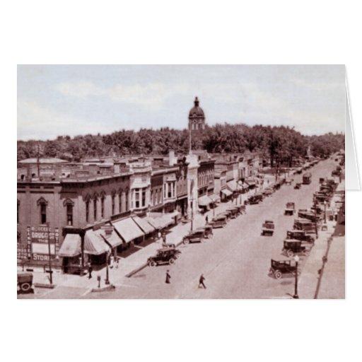 Calle principal de Goshen Indiana Tarjeta De Felicitación
