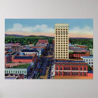 Calle principal de Greenville Carolina del Sur Posters