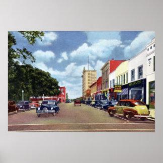 Calle principal de Lakeland la Florida Póster