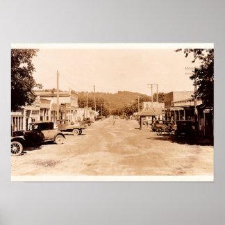 Calle principal de Noel Missouri Póster
