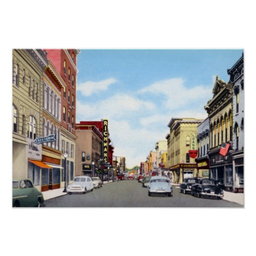 Calle principal de Richmond Indiana Impresiones