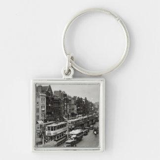Calle principal de Whitechapel Londres c 1930 Llaveros Personalizados