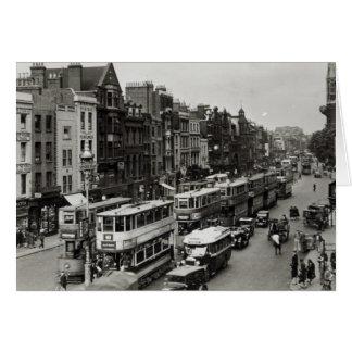 Calle principal de Whitechapel, Londres, c.1930 Tarjeta De Felicitación
