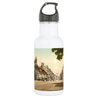 Calle principal del oeste, Dorchester, Inglaterra Botella De Agua De Acero Inoxidable