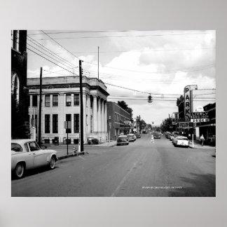Calle principal del oeste McMinnville Tennessee Ci Posters
