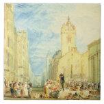 Calle principal, Edimburgo, c.1818 (w/c, pluma, ti Azulejo Cuadrado Grande