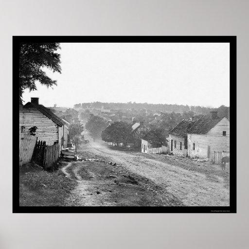 Calle principal en Sharpsburg, MD 1862 Impresiones
