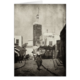 Calle principal en Tánger, Marruecos, 1898 Tarjeta Pequeña