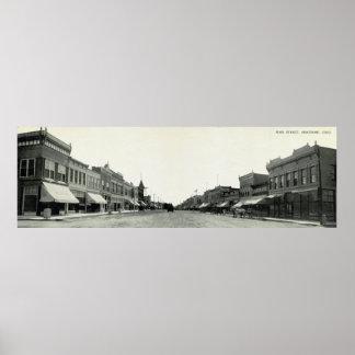 Calle principal, Montrose, Colorado, 1910 Poster