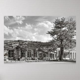 Calle principal - pueblo fantasma de Virginia City Impresiones