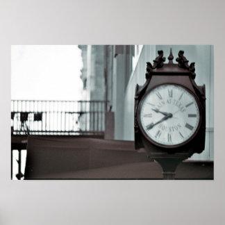 Calle principal, reloj de Houston Impresiones