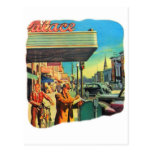 Calle principal retra 1940 del kitsch 40s del vint postales