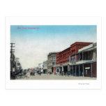 Calle principal SceneWoodland, CA Tarjeta Postal