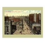 Calle principal, vintage 1912 del búfalo NY Tarjeta Postal