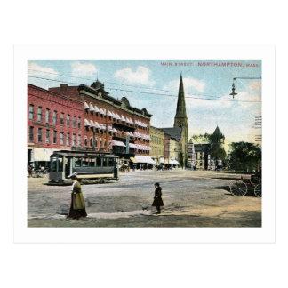Calle principal, vintage de Northampton, Postal