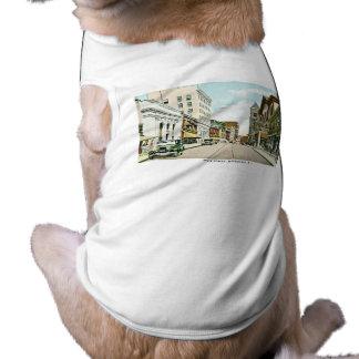 Calle principal, Woonsocket, Rhode Island Playera Sin Mangas Para Perro