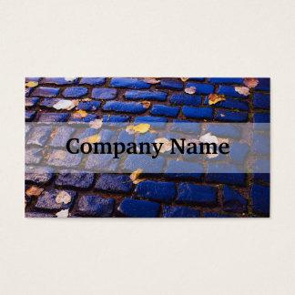 Calle púrpura y azul del guijarro tarjetas de visita