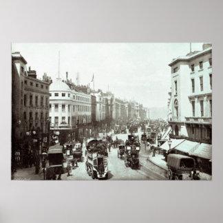 Calle regente, Londres c.1900 Póster