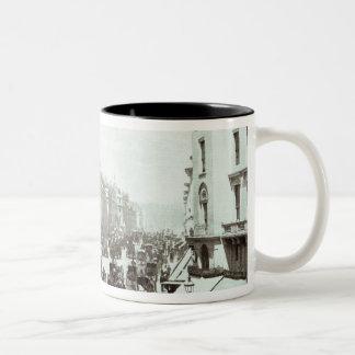 Calle regente, Londres c.1900 Taza De Café De Dos Colores