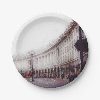 Calle regente, Londres Plato De Papel De 7 Pulgadas