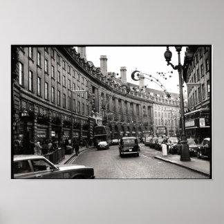 Calle regente, Londres Póster