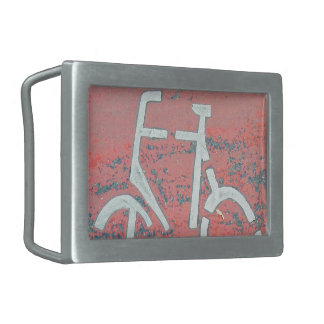 Calle roja de la bicicleta blanca, bicicletas de hebilla de cinturón rectangular