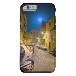 Calle romana de la vecindad en la noche funda de iPhone 6 tough