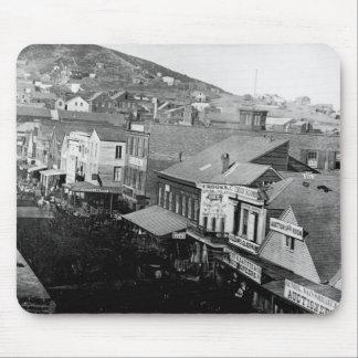 Calle San Francisco California 1850 de Montgomery Tapetes De Ratón