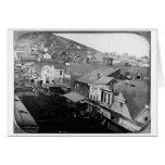 Calle San Francisco California 1850 de Montgomery Felicitacion