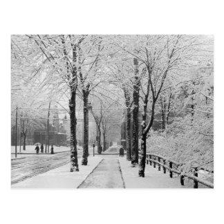 Calle Scene, 1910 del invierno Tarjeta Postal