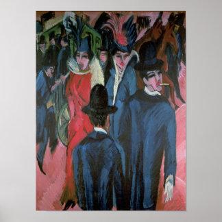 Calle Scene, 1913 de Berlín Impresiones