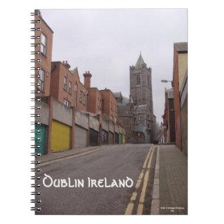 Calle trasera Dublín Irlanda Libro De Apuntes Con Espiral
