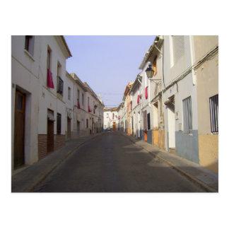 Calle vieja de la ciudad. España Tarjeta Postal