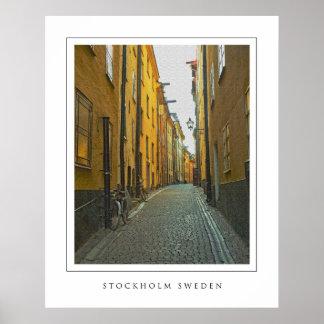 Calle vieja de la ciudad - Estocolmo Póster